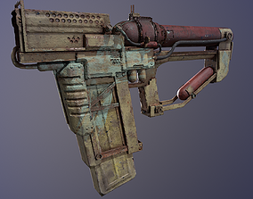 3D asset Post-apocalyptic Weapon