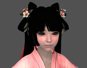 3D model Ancient Chinnes Little Girls