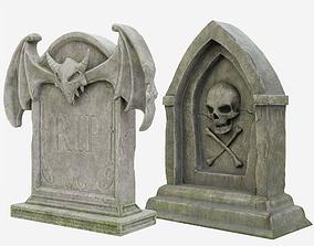 Halloween Gravestone Collection 3D asset