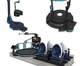 3D model Collection of VR Equipment