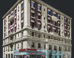 3D model New York old building facade