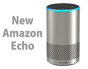 3D New Amazon Echo 2018 Silver Finish