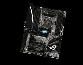 Gaming Motherboard - High Poly and Detailed 3D model