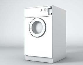 80s Washing Machine 3D model simple