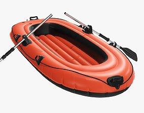 3D Boat inflatable 01 orange