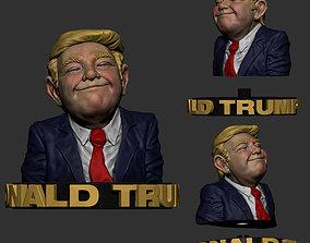 Donald Trump Sculpture 3D Print Model -STL Files for 3D