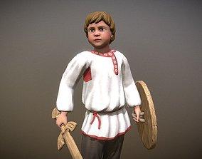 Peasant Villager Boy 3D model