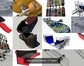 Skateboard Collection 3D model