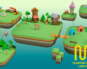 3D model Floating City - Low-Poly Asset Pack