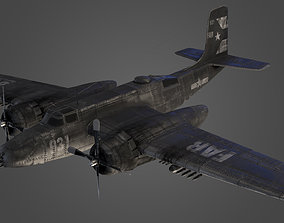 Douglas B-26 Invader Airplane Military 3d Model game-ready