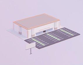 Supermarket - Low Poly Style 3D asset