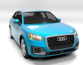 3D model AUDI Q2 2017 LOWPOLY