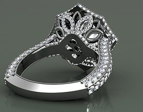 3D printable model Stella engagement ring