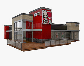 3D model KFC 2-Storey Restaurant