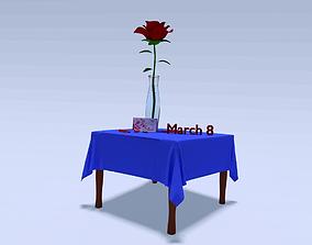 3D model Rose for March 8 in Blender
