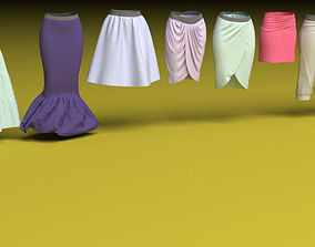 3D Female clothing skirts and pants