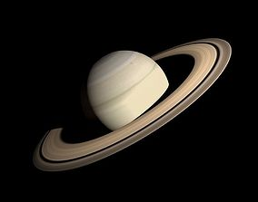 3D asset Animated HD Saturn Model