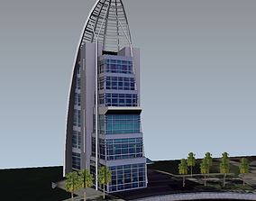 realtime Exploration Tower lowpoly 3d model
