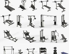 Gym Equipaments 3D asset