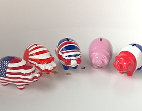 Piggy Bank 3D model uk