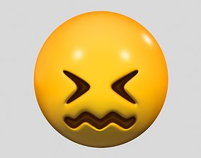 3D Emoji Confounded Face