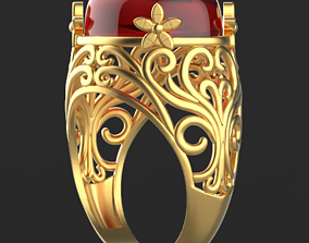 3D print model oval Ultra vision Ring