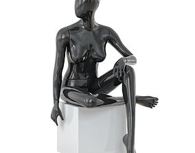 Collection of faceless female mannequins 04 3D