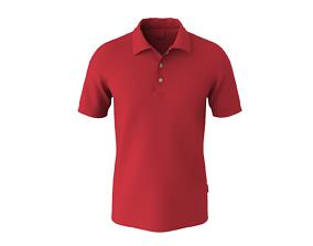 Male polo shirt- short sleeves 3D