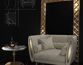 Armchair Sipario from Arredoclassic 3D model