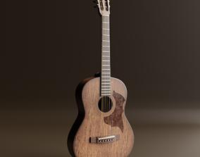 3D model Acoustic Guitar Realistic brown