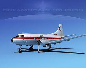 3D model Martin 202 Baja Airlines