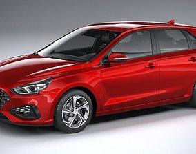 3D Hyundai i30 Hatchback 2021