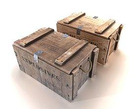 3D asset Explosives crate 2 PBR