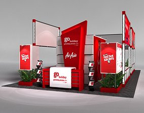 3D AirAsia 6 x 12 Exhibition Booth