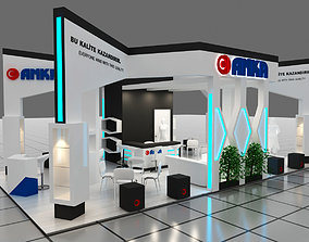 Exhibition Stand - ST0026 3D model