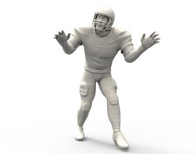 3D print model American footballer Pose 3d