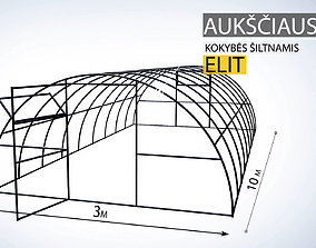 Greenhouse constructions made in Solidworks 3D model