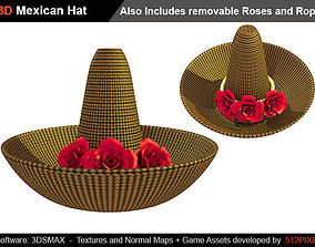 3D asset Cartoon Mexican Hat low poly - high poly