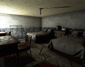 3D asset HQ Modular Asian Dormitory