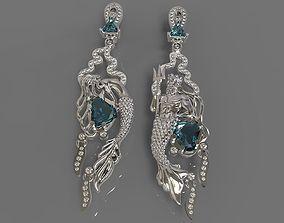 3D print model Earrings Mermaid and Neptune