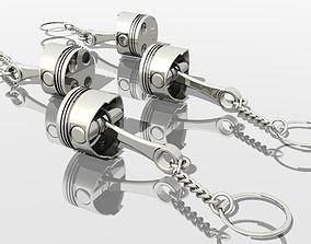 Piston KeyRing 3D print model