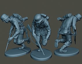 German soldier ww2 shooted G1 3D print model
