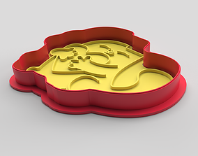 Cookie cutter and stamp - Cat and heart 3D printable model