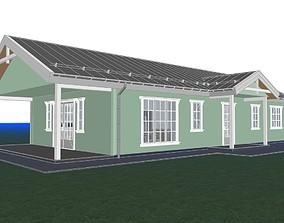 Scandinavian house archicad22 sketchup lumion10 3D