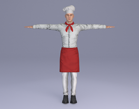 rigged The Chef 3D model