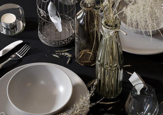 Straw Table Set