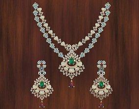 Beautiful Necklace Set 80 Grms 3D printable model