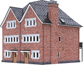 English Brick House 22 3D asset