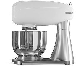 White Food Processor mixing 3D