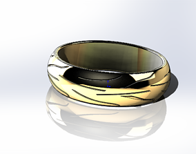 Ring in the style of a Michelin motorcycle tire 3D model